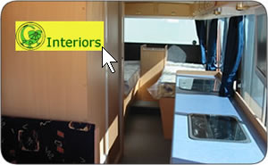 Examples of interior motorhome fit outs